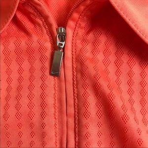 Nike Tops - Nike golf bright orange zip sleeveless polo S